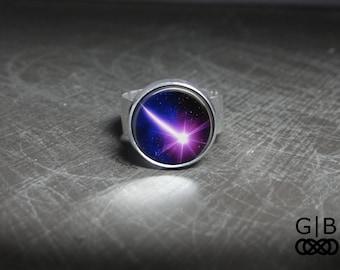 Shooting Star Ring Bright Star Ring - Purple Star Ring Jewelry - Shooting Star Jewelry Rings - Bright Purple Ring Jewelry Shooting Star Ring