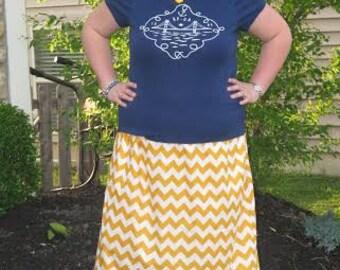 Maxi Skirt pdf sewing pattern for Women, women maxi skirt sewing pdf pattern, short skirt high low and maxi skirt sewing pattern