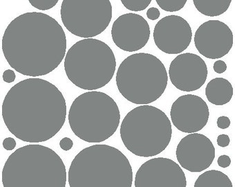 34 Silver Polka Dot Wall Stickers Removable Polka Dot Wall Decals