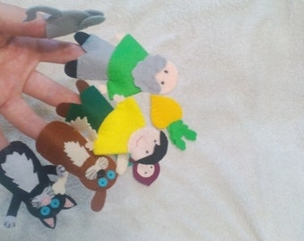 Finger puppets, felt finger puppets