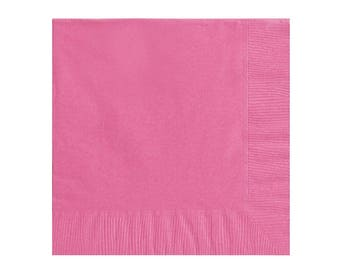 Bright Pink Napkins,Pink Party Napkins,Pink Party Supplies,Pink Partyware,Bright Pink Party, Party Napkins, Pink Napkins, Fuchsia Tableware