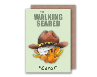 The Walking Dead -  Carl Coral Rick Meme Greetings Card - Blank card, birthday card Walking Dead Fan Art