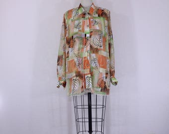 Vintage Long Sleeves Shirt Fall Theme Designs and Colors 1970s