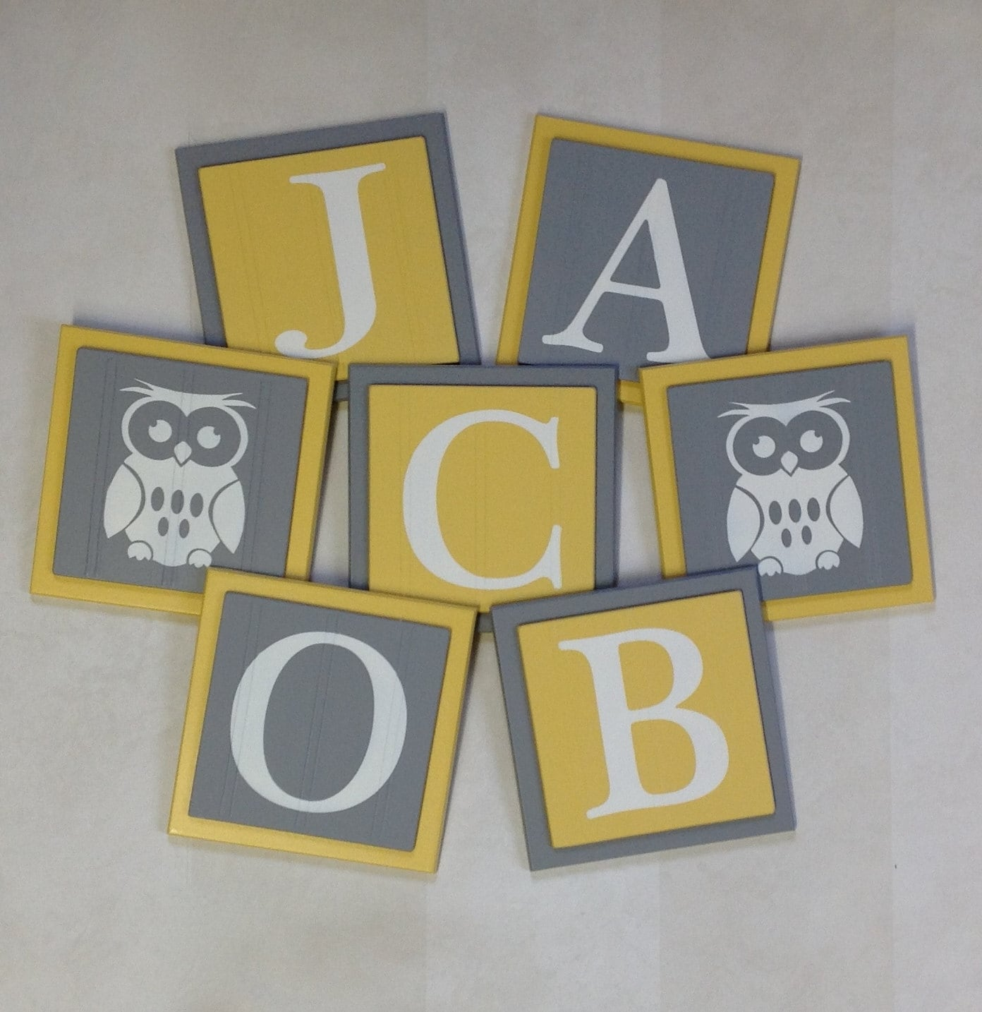 Owl Nursery Decor Baby Boy Name Owl Custom Sign 6x6