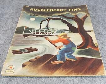 Huckleberry Finn Coloring Book C. 1947
