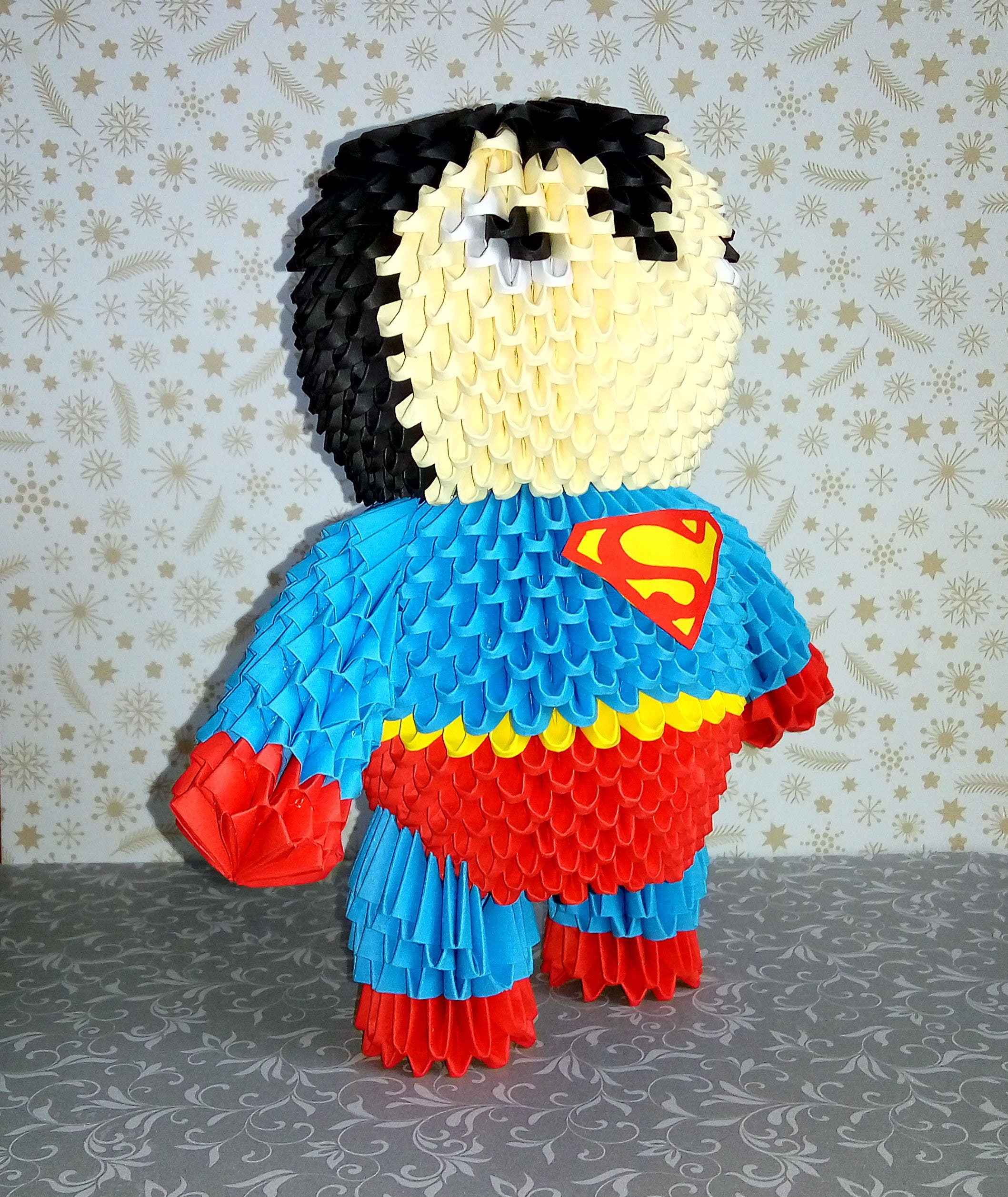 3d origami superman handmade gift man of steel superman doll zoom jeuxipadfo Image collections