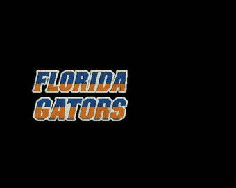 Florida Gators machine embroidery design