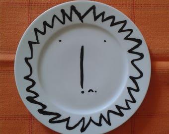 """""""LION"""" porcelain dessert plate handpainted 19cm"""