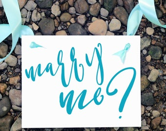 Marry Me Proposal Sign | Engagement Banner Handmade in USA | Creative Ways to Propose to Girlfriend | 1717 BW