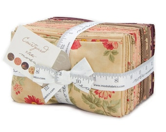 Moda COURTYARD 37 Fat Eighth Bundle 44120F8 Quilt Fabric By 3 Sisters