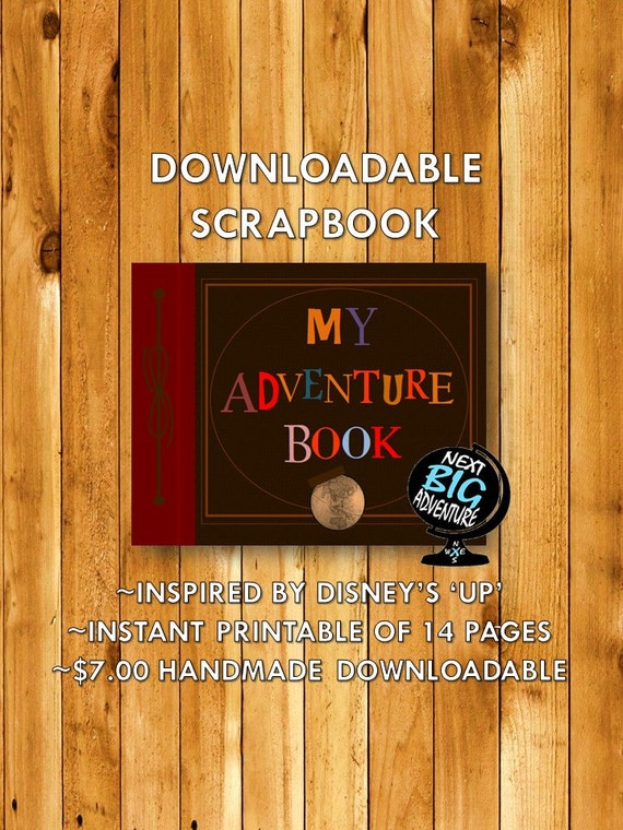 My Adventure Book Printable Cover : My adventure book print pages downloadable scrapbook