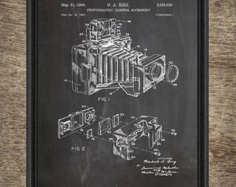 Camera Patent Print | Vintage Camera Wall Art Poster | Camera Design | Photography Gift Idea | Camera Patents INSTANT DOWNLOAD