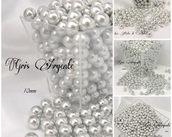 Pearl Grey silver glass 4mm, 6mm, 8mm and 10mm
