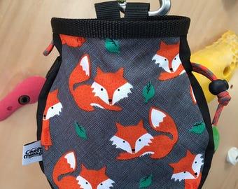 Fox print Chalk Bag
