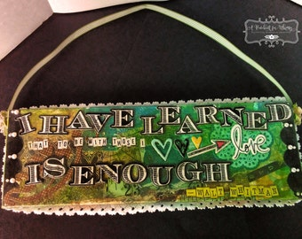 Whitman Quote Mixed Media Wall Hanging