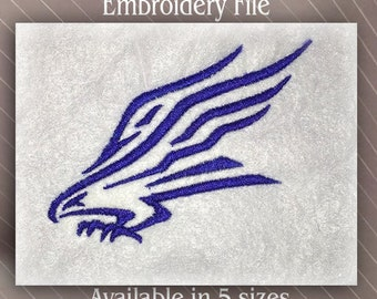 Eagle  5 sizes Embroidery Machine File Instant Download
