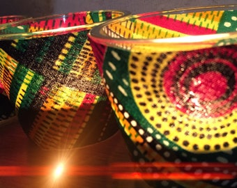 African home decor etsy tea light holders with african fabric set of three tealights african home decor teraionfo