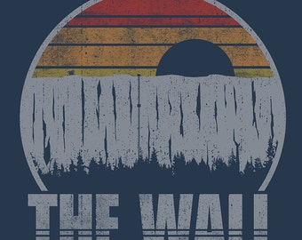 The Wall North Recreational Monument Men's Unisex T-Shirt - GOT Winterfell Travel and National Parks Vintage Parody Clothing
