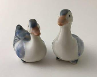 Vintage Japanese Otagiri ducks, OMC Japan ducks, porcelain duck figurines, Japan duck figurine, OMC Japan figurine, vintage duck figurine