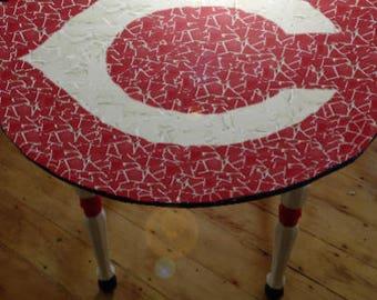 Cincinatti Reds Tile Mosaic Table