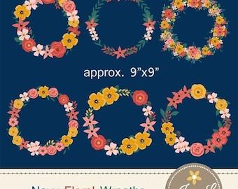 50% OFF Wedding Flower Wreath Clipart, Floral Wedding Flowers, Flower Bunches, Floral Arrangement for digital Scrapbooking, Wedding, Birthda