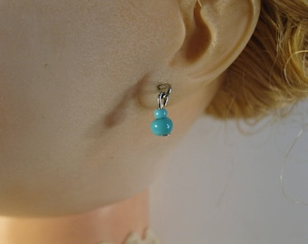 tiny blue bead earrings Jumeau Bru Madame Alexander Revlon Toner 10 inch to 30 inch dolls