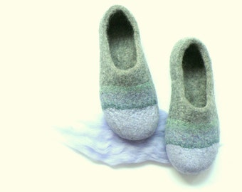 Felted slippers Lavender