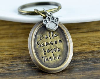 Pet Loss Gifts, Pet Key Chain, Pet Jewelry, Dog Lover Gift, Pet Memorial Keychain, Dog Mom, Pet Parent, Keychain Personalized
