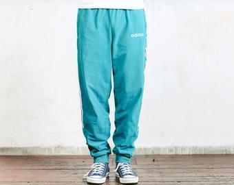 Adidas Velvet Track Pants . Vintage Track Pants Velour Pants Mens Workout Pants Tracsuit Pants 90s Activewear . size Large L