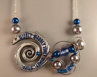 Wibbly wobbly timey wimey necklace