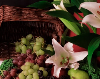 Still Life with Fruit and Lilys