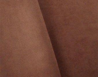 Sienna Brown Faux Suede, Fabric By The Yard