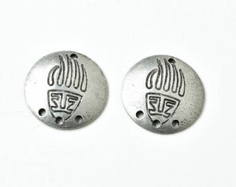 Bear Claw Earring Blanks, Set of Two, Silver, Jewelry, Crafts, DIY