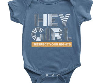 Hey Girl Onesie | Boys Feminist Shirt | Feminist Boys | Kids Feminist Shirt | Boys Will Be Good Humans | Feminism | Organic Baby Clothes