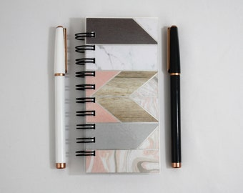 Mini Notebook- Pocket Notepad- Small Spiral Notebook-Blank Travel Notebook