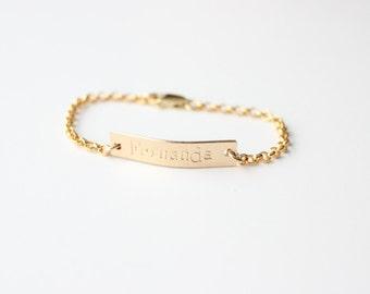 Gold Baby BraceletBaby JewelryBaby Name BraceletHebrew Baby