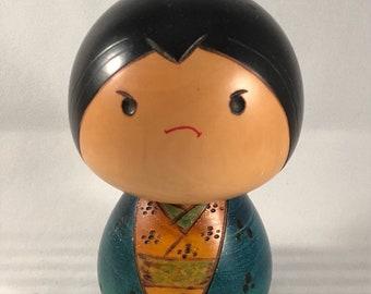 Vintage Grumpy Kokeshi
