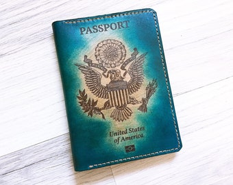 US United states Genuine Leather handmade Passport Wallet/Passport Cover/Passport Holder/personalized case/traveller gifts/custom holder