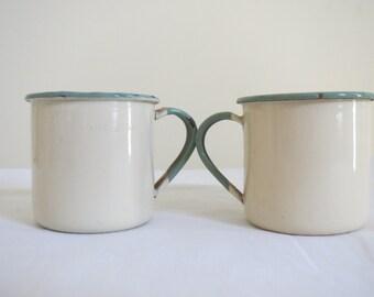 Vintage Kockum brand  Enamel Mug without lid- Small size
