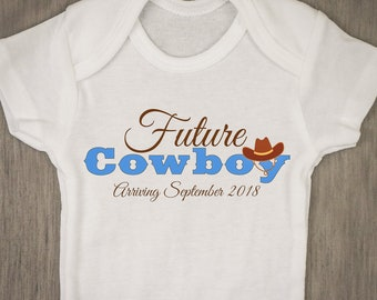 Cowboy baby gift etsy future cowboy personalized baby novelty onesie baby shower gift pregnancy announcement baby boy negle Choice Image