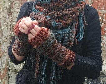 Fingerless gloves . Knit gloves . Women's gloves . Festival gloves. Colorful gloves.