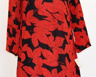 Black and Red Print Tunic Dress item# 9272