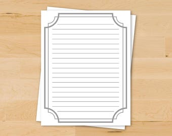 Rustic Stationery | Farmhouse Paper | Cute Writing Paper | Fancy Stationery | Printable Writing Paper | Digital Download
