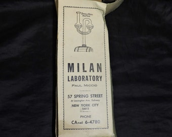Vtg Milan Laboratory Double Ball Air Trap Glass Cork Home Wine Making DoubleBall AirTrap
