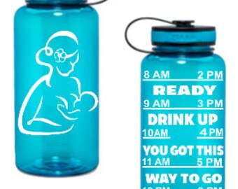 Breastfeeding water bottle - breast feeding - water bottle tracker - breastfeeding - water bottle