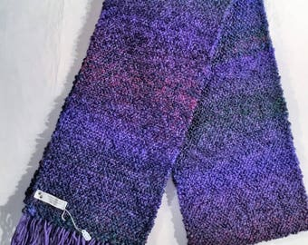 HANDWOVEN PURPLE  SCARF