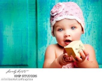 Baby Girl Hat, Baby Girl Beanie, Baby Hat, Crochet Baby Hat, Baby Newborn Hat, Newborn Beanie, Pink White, Newborn Prop, Newborn Baby Beanie
