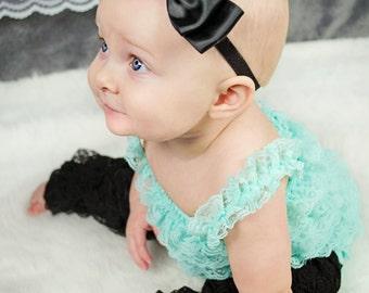 Black Bow Headband/ Black Baby Headband/ Alice Headband/ Flower Girl Headband/ Alice in Wonderland Bow/ Baby Headbands and Bows