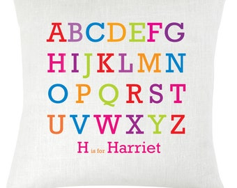Personalised childrens name Alphabet cushion / pillow
