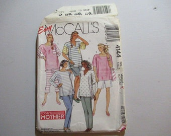 McCalls 4144 Maternity Tops, Pants and Shirts for Stretch Knits Only  Vintage1989